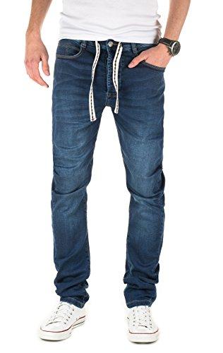 Yazubi Herren Sweathose in Jeansoptik Desmond - Jogginghose in Jeans-Look, Dress Blue (4024), W29/L34