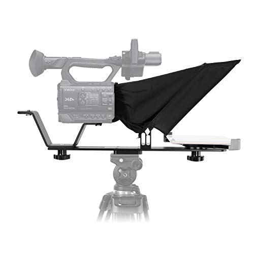 GVM Universal Video Camera Tripod Teleprompter TQ-M for Tablets and Smartphones with Remote Control & App