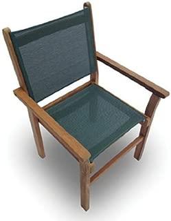 Royal Teak CAPM Captiva Sling Stacking Chair,Moss