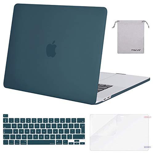 MOSISO Funda Dura Compatible con MacBook Pro 16 Pulgadas 2020 2019 con Touch Bar A2141, Delgado Plástico Carcasa Rígido&Cubierta de Teclado&Protector de Pantalla&Bolsa de Accesorios,Trullo Profundo