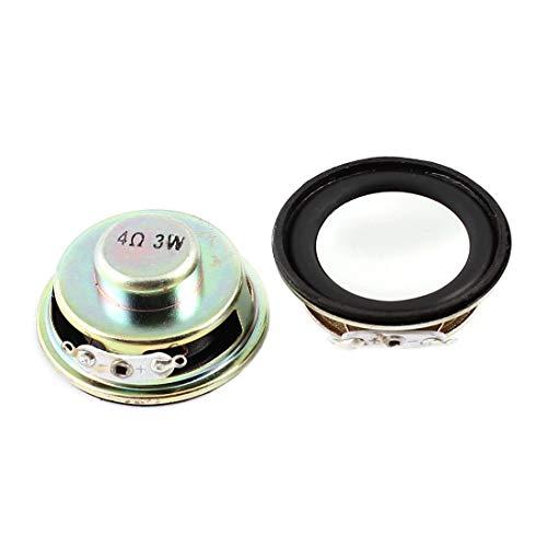 SODIAL(R) Lautsprecher 3W 4 Ohm Metallgehaeuse Runder Magnet Lautsprecher Lautsprecher 2 Stueck