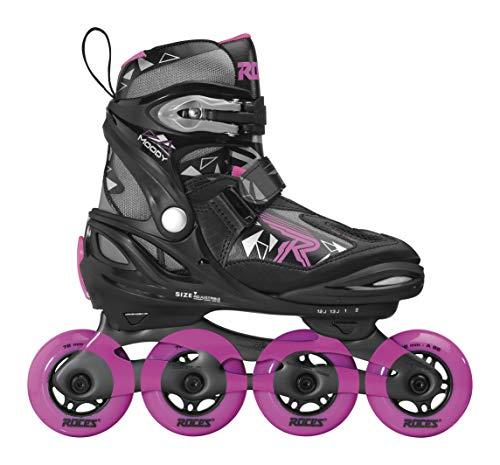Roces Mädchen Moody Girl TIF Inline-Skates, Black-pink, 30-35