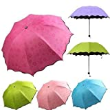 SHOPPOWORLD Triple Folding Mini Blossom Magic Compact Umbrella for Girls and Women (Multi Color) (1)