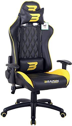 BraZen Phantom Elite PC Gaming Chair - Yellow