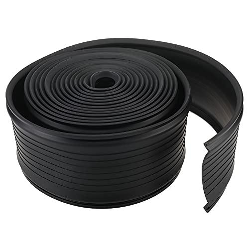 Erfo Garage Door Bottom Weather Stripping Kit,Rubber Seal Strip Weatherproofing Universal Sealing Replacement 5/16