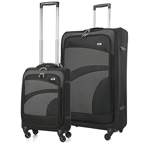 Aerolite Super lichtgewicht 4-wiel spinner koffer reiskar 2-delige kofferset, 21