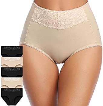 5-Pack Misswho Womens Cotton Underwear Soft Breathable Panties