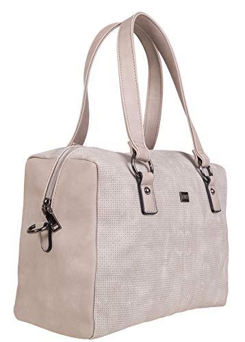 BERNARDO BOSSI Crossover Damen große Tasche Shopper Hobo Bag Schultertasche Frauen Umhängetasche verschiedene Modelle (M1 Stone)