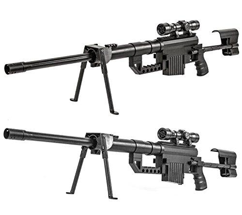 Nerd Clear Soft-Air Gewehr Sniper Waffe Zweibein 99 cm