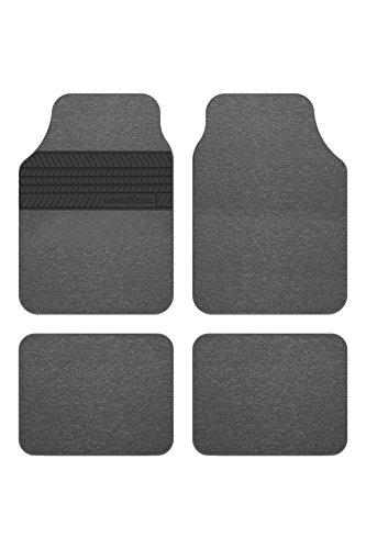 Goodyear GOD9019 1 set di tappeti con tacco in gomma di 4 pezzi grigio universale GOODYEAR