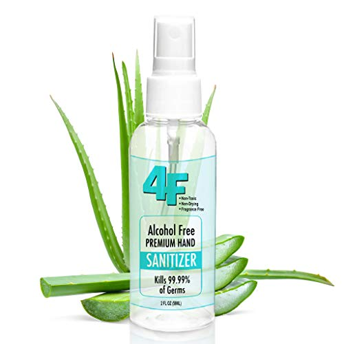 Hand Sanitizer 2oz - Made in USA by 4F - Fast Shipping - Moisturizing Alcohol-Free Antibacterial Hand Sanitizer - Long Lasting - Pet & Kid Safe - Non-Toxic - Kills 99.99% Bacteria - Fits in Pocket