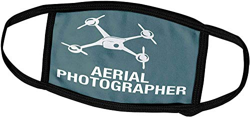 Keyboard cover Kike Calvo Drohne und unbemannte Fahrzeugsammlung - Blaue Drohne mit Luftbildfotografen-Words-Face-Masken