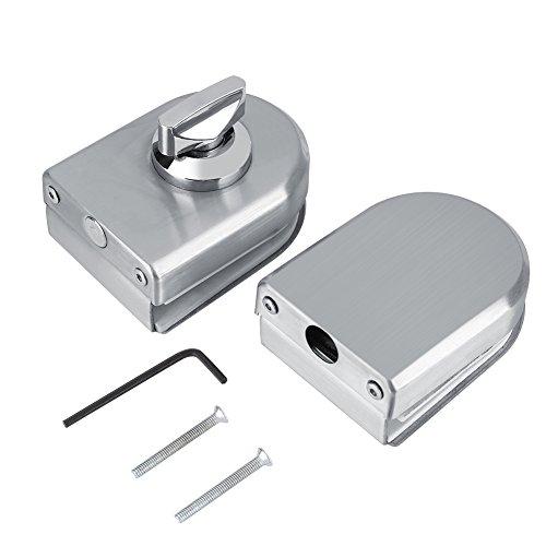 10~12mm Edelstahl Glastürschloss Sicherheitsschloss Drehknopf Öffnen/Schließen für Home Hotel Badezimmer