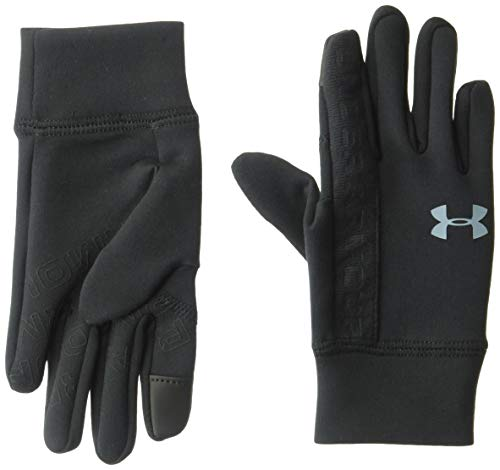 Under Armour Boys' Liner Gloves , Black (001)/Ash Gray , Youth Medium