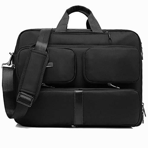 CoolBELL umwandelbar Messenger Bag Aktentasche Rucksack Herren Umhängetasche 17,3 Zoll Business Backpack Laptoptasche Notebook Schultertasche Kuriertasche Mehrzweck Reiserucksack(Schwarz)