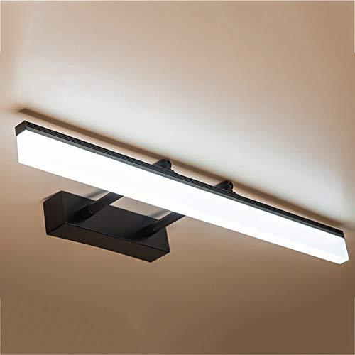 Cuican Moderne led-spiegellamp voor aan de muur, verstelbaar, waterbestendig, design spiegellamp voor kaptafel, wandlamp, zwart