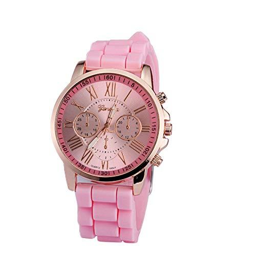 Relojes para Mujer Cuarzo de Mujer Números Romanos de Silicona Jelly Gel Reloj de Pulsera analógica de Cuarzo Amantes Blancos Relojes de Regalo Relojes Decorativos Casuales para Niñas Damas