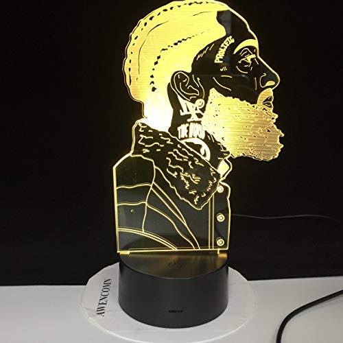 Rapper Musik Fan Licht Illusion Farbwechsel Tabelle Nachtlicht Baby Nachttischdekoration