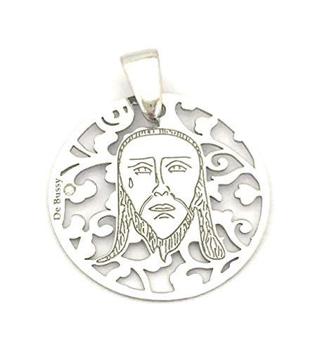 Medalla de la Santa Faz en Plata de Ley y Diamante