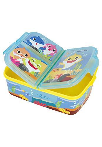 Baby Shark Lunchdoos Brooddoos Kinderlunchbox met 3 afzonderlijk afsluitbare compartimenten