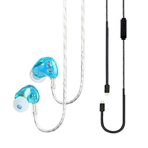 BASN Tempos Pro in Ear Monitor Headphones with Dual Driver Universal Monitoring Earphone for On Stage 2 Cables