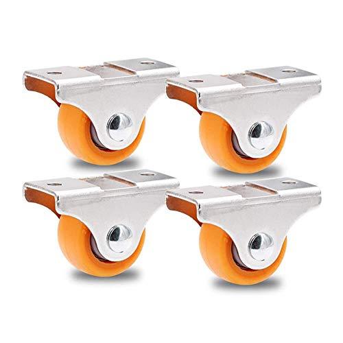 LXESWM Zware wielen draaibare wielen rubberen wielen 1 inch / 25 mm meubelrollen klein, ladekast Casters, rubber stille Casters, 4 verpakkingen
