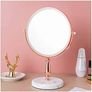 Vanity Makeup Mirror Dual Sided 3X Magnifying Beauty Mirror Rotate 360 Degrees Female Princess Mirror for Daughter Wife Mother Festival Gifts OO (Color : B) (Color : B)