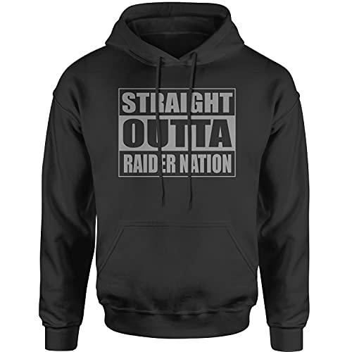 Hoodie Straight Outta Raider Nation Adult X-Large Black