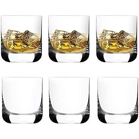 [ 6-pack,285ml /9.6oz]DM DESIGN·MASTER- Premium Vasos de whisky , Vaso estilo rock antiguo para whisky escocés, bourbon, cócteles, ron, vasos de ...