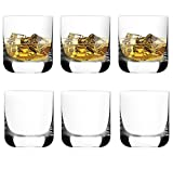 [6-Pack, 285ml/9.6oz] DESIGN·MASTER – Premium Whiskey Gläser, Rock Style altmodische Gläser für Schottisch, Bourbon, Cocktails, Rum, haltbare Whiskeygläser für Partys, Camping.