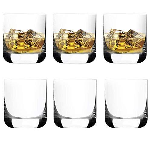 [6-Pack, 285 ml/9.6 oz]DESIGN•MASTER- Bicchieri da Whisky di Alta Qualità, Bicchieri Vecchio Stile Rock per Scotch, Bourbon, Cocktail, Rum, Bicchieri da Whisky Resistenti per Feste, Campeggio.
