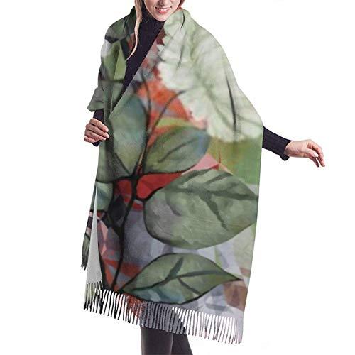 shenguang Schal Wrap Poncho Cashmere Feel Teals Mexikanischer Schal für den Winter