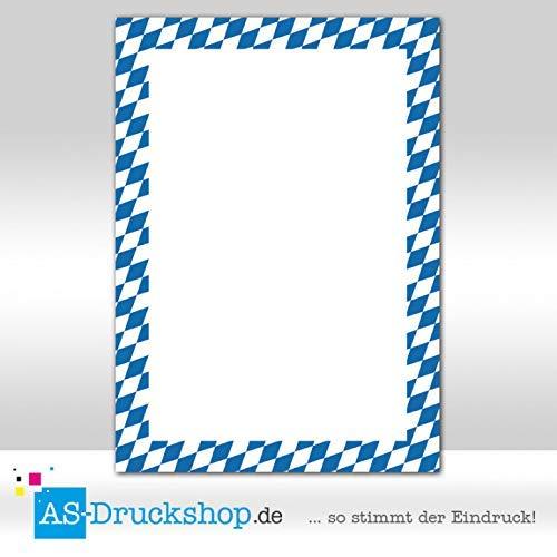Designpapier Oktoberfest - Weiß-Blau / 25 Blatt/DIN A4 / 90 g-Offsetpapier
