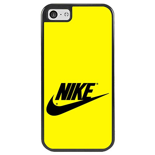 afrostore Custodia Cover per Apple iPhone 5c Logo Nike Logo TPU Bordo Nero