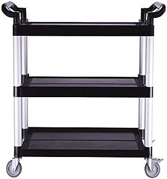 Lovinland Heavy Duty 3-Shelf Rolling Service/Utility/Push Cart