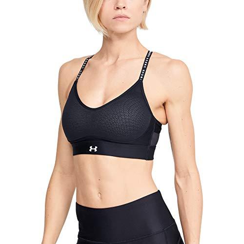 Under Armour Women's Limitless Low Sports Bra , Black (001)/White , Medium