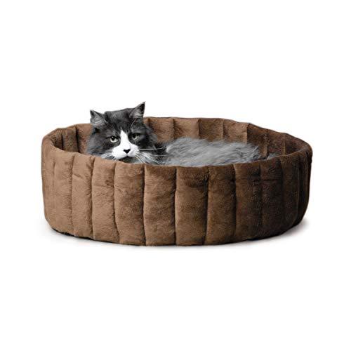K&H Pet Products Lazy Cup Pet Bed Large Tan/Mocha 20'