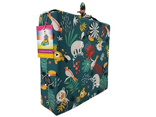 barfuss Stuhl Sitzerhöhung für Kleinkinder 8cm Höhe (Dschungelfieber)