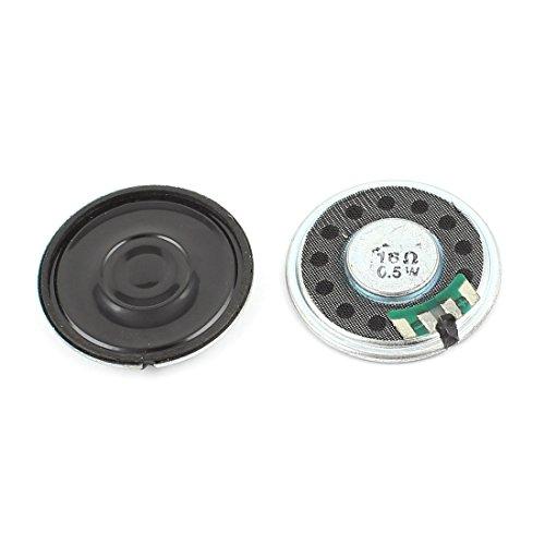 sourcing map 2Stück 1/2W 0,5 W 16Ohm 36mm rund innerer Magnet Elektronik Lautsprecher Trumpe de