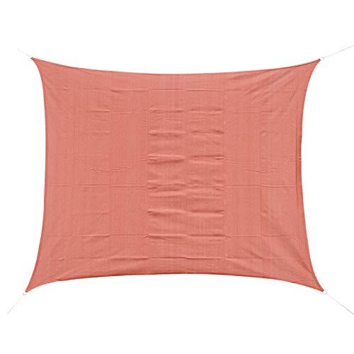 Outsunny Voile d'ombrage rectangulaire 3 x 4 m polyéthylène Haute densité résistant aux UV Rouge