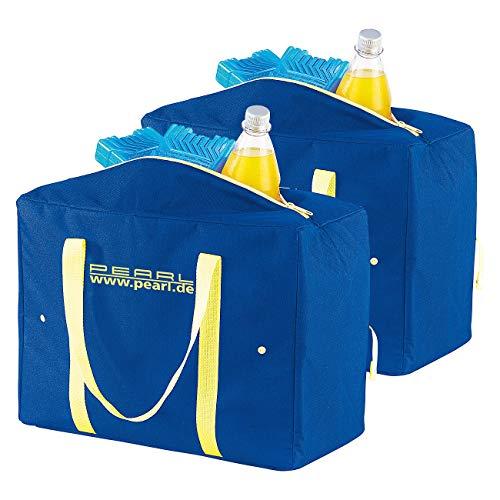 PEARL Flaschentasche: 2er-Set zusammenfaltbare Nylon-Kühltaschen, 21 Liter, EPE-isoliert (Kühltasche faltbar)