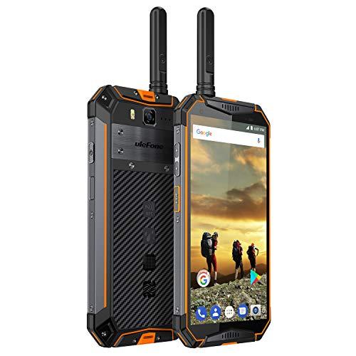 Ulefone Armor 3T Rugged Cell Phones Unlocked, IP68 Walkie Talkie Waterproof Smartphone, 10300mAh Big Battery, 5.7 Inch, 4GB+64GB,Android 8.1 4G Dual Sim Compass, NFC, Shockproof, Dustproof (Gold)