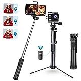 Mpow Perche Selfie Bluetooth, All en 1 Selfie Stick Trépied Bton de Selfie avec Télécommande Rechargeable et Lumière d'appoint pour iPhone 11/XS Max/XR/X/8/7/6, Samsung, Huawei, Sony, Gopro/Caméra