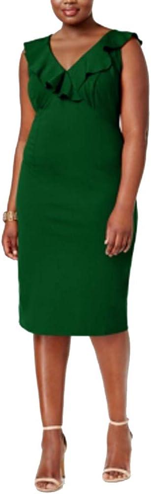 Love Squared Womens Plus Sleeveless Ruffled Party Dress