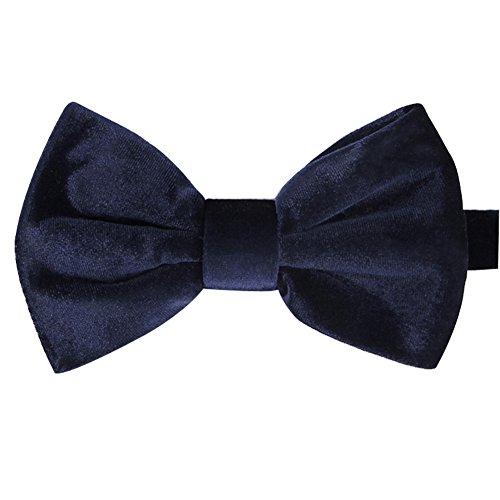 iHomor Men's Velvet Bow Tie Many Colors (Blue)