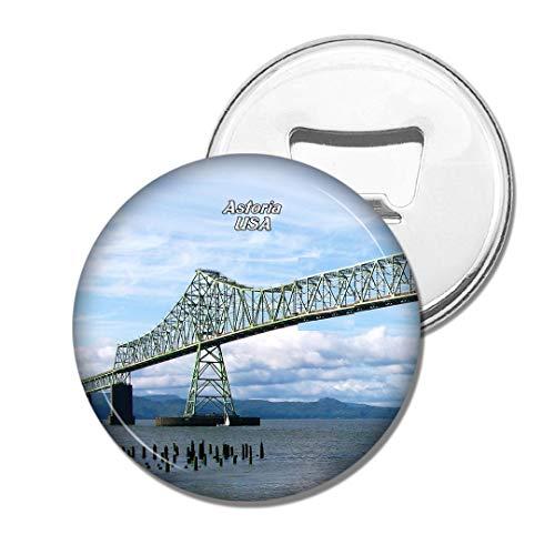 Weekino Amérique USA Astoria Megler Bridge Astoria Bière Ouvre-Bouteille Aimant De Réfrigérateur Voyage Souvenir Autocollant de réfrigérateur Fort