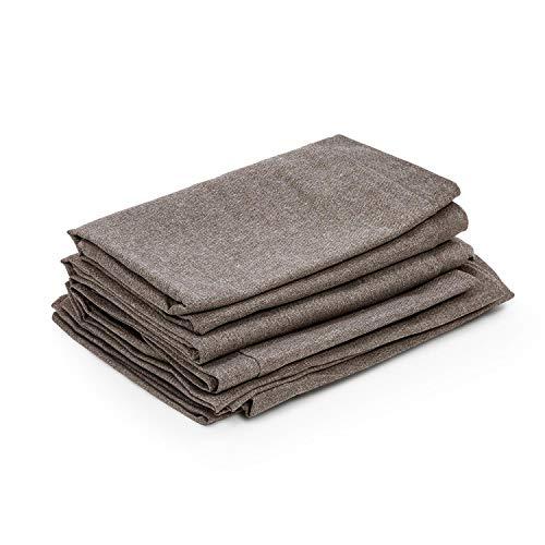blumfeldt Titania Dining Set - Set Fodera per Cuscino, Materiale: 100% Poliestere Tessuto 220 g/m², Idrorepellente, Adatto per Il Lavaggio a Mano, Set di Accessori da 10 Pezzi, Marrone