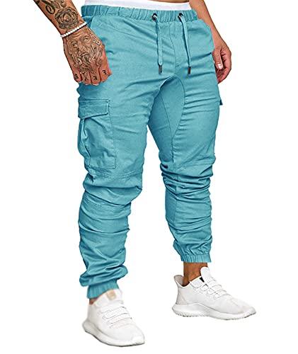 Somthron męski, długie bawełniane spodnie dresowe do joggingu, elastyczny pas biodrowy, duże rozmiary, spodnie cargo, szorty z kieszeniami, odzież sportowa