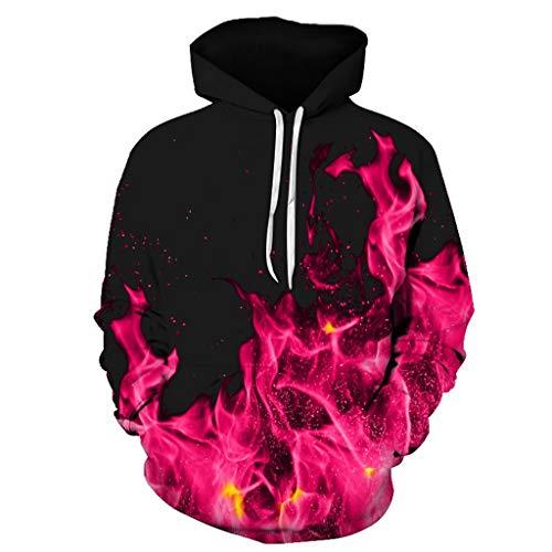 serliy😛Herren 3D Druck Hoodie,Kapuzenpullover Langarm Galaxy Bunte Pullover Kapuzenpulli Sweatshirt Kapuzenjacke mit Tasche