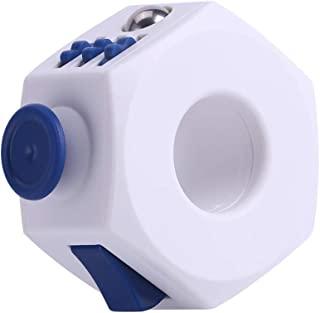 フィジェットリングキューブフィジェットおもちゃリングの種類不安ストレス解消キューブリングハンドヘルドポケットゲーム感情調整集中力を高めるツール多機能減圧グッズギフト(青)